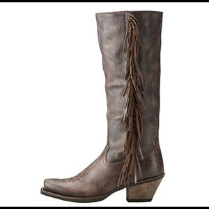 Luxury leather cowgirl boots